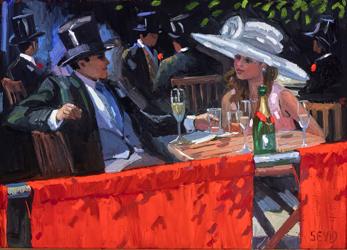 Royal Enclosure, Ascot by sherree valentine daines -  sized 14x10 inches. Available from Whitewall Galleries